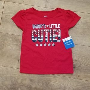Daddy's Little Cutie Patriotic Tee Red {3T}